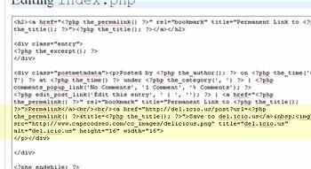 Screenshot of index.php