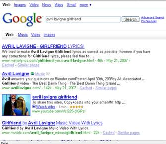 Search: Avril Lavigne Girlfriend